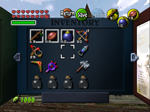 Free Inventory Movement: You can now move the cursor freely in the inventory.