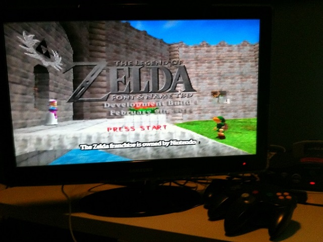 Title Screen on Console: The mod is playable on console. An Everdrive 64 was used in the picture.
